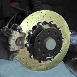 AUDI A3(8L) 325mm (純正232mmローター用)2ピース リアビックローターSET HHC BRAKES|emusengineering