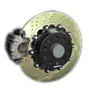 AUDI A3(8P) 325mm (純正255mmローター用)2ピース リアビックローターSET HHC BRAKES|emusengineering