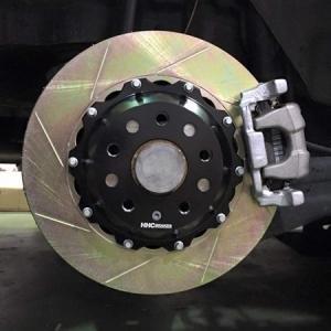 VW EOS2.0/3.2 325mm (純正272mmローター用)2ピース リアビックローターSET HHC BRAKES|emusengineering