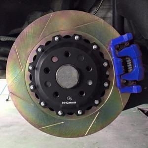 VW EOS2.0/3.2 350mm (純正272mmローター用)2ピース リアビックローターSET HHC BRAKES|emusengineering