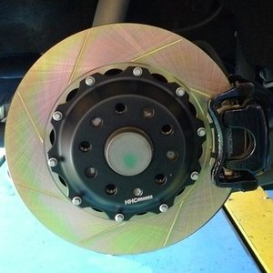 VW EOS2.0/3.2 350mm (純正282mmローター用)2ピース リアビックローターSET HHC BRAKES|emusengineering