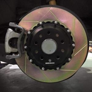 VW ゴルフ5,6/JETTA 325mm (純正256mmローター用)2ピース リアビックローターSET HHC BRAKES|emusengineering