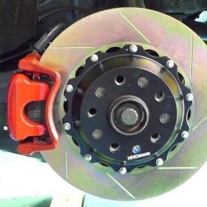VW ゴルフ5,6 GTI 325mm (純正282mmローター用)2ピース リアビックローターSET HHC BRAKES|emusengineering