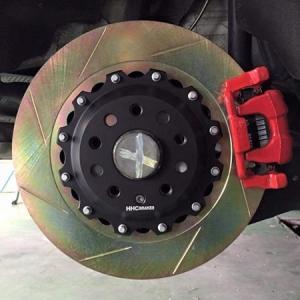 VW ゴルフ6 GTI 350mm (純正272mmローター用)2ピース リアビックローターSET HHC BRAKES|emusengineering