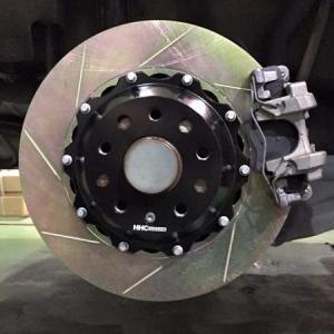 VW ゴルフ7 1.2/1.4L 325mm 2ピース リアビックローターSET HHC BRAKES|emusengineering
