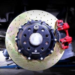 VW ゴルフ7 GTI 325mm 2ピース リアビックローターSET HHC BRAKES|emusengineering