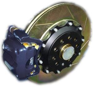 VW シロッコR 350mm (純正310mmベンチレーテッドローター用)2ピース リアビックローターSET HHC BRAKES emusengineering