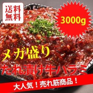 アメリカ産メガ盛り牛ハラミ焼肉秘伝黒タレ焼肉 3000g|emutuselect
