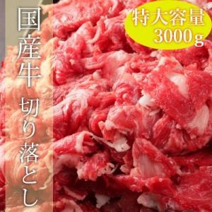 国産牛ギガ盛り切り落とし 3000g|emutuselect