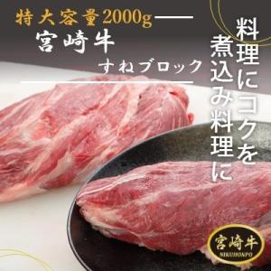 【エムツーの日】宮崎和牛すねブロック 2000g|emutuselect