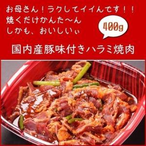 【エムツーの日】国内産豚味付きハラミ焼肉用 400g|emutuselect