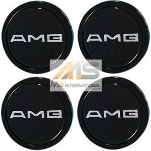 【M's】AMG 純正品 ホイールセンターキャップ 58mm (1台分/4個セット)//メルセデスベンツ 201-400-0125 2014000125 W201 W124 W126 R129 R107|emuzu-international