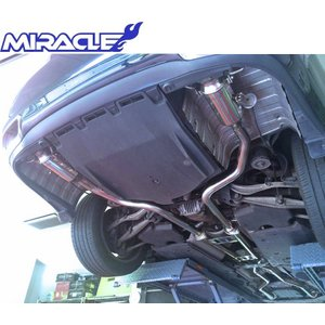 【M's】レクサス LS460(前期)MIRACLE製 ストレートフロントパイプ+センターXパイプ+可変リアマフラー(フルセット)//3704 LEXUS USF40/45 USF41/46 新品|emuzu-international