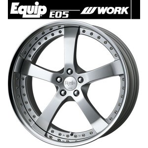 【M's】WORK Equip E05 ホイール 19インチ 10.5j ファインハイトシルバー2(FS2) 1本// ワーク エクイップ 鍛造 3ピース 新品|emuzu-international