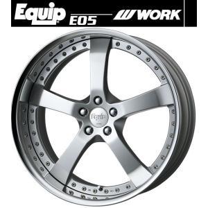 【M's】WORK Equip E05 ホイール 19インチ 11.0j ファインハイトシルバー2(FS2) 1本// ワーク エクイップ 鍛造 3ピース 新品|emuzu-international