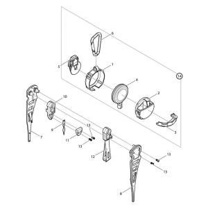 【部品】 スレダー本体A DE (40301) パーツNo.10 [第一精工 ピッカーズEX ダーク...