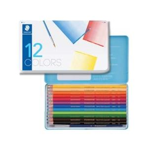 ポイント5倍 メール便可 ステッドラー ノリスクラブ 水彩色鉛筆 メタルケース 12色セット|enauc