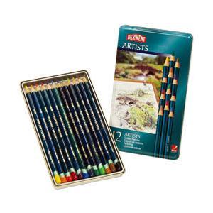 ポイント10倍 メール便可 ダーウェント 色鉛筆 アーチストカラーペンシル 12色セット 油性色鉛筆|enauc