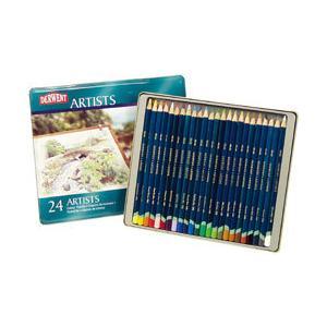 ポイント10倍 メール便可 ダーウェント 色鉛筆 アーチストカラーペンシル 24色セット 油性色鉛筆|enauc