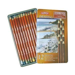 ポイント10倍 メール便可 ダーウェント ドローイングペンシル 12色セット スケッチ用 油性色鉛筆|enauc