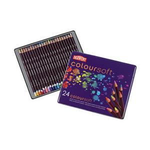ポイント10倍 メール便可 ダーウェント 色鉛筆 カラーソフト 24色セット 油性色鉛筆|enauc
