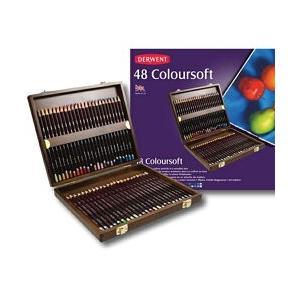 ポイント10倍 送料無料 ダーウェント 色鉛筆 カラーソフト 48色 ウッドボックスセット 油性色鉛筆|enauc