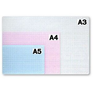 ポイント5倍 バンコ VANCO オレフィンカッティングマット A3サイズ (ホワイト・ブルー・ピンク)|enauc