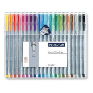 ポイント10倍 メール便可 ステッドラー 334 SB20 トリプラス ファインライナー 細書きペン 20色セット 線幅0.3mm ミリペン|enauc