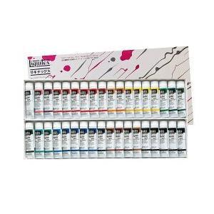 ポイント10倍 送料無料 リキテックス アクリル絵の具 リキテックスカラーセット レギュラータイプ 伝統色 36色 Aセット 6号チュー|enauc