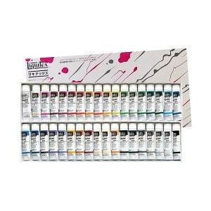 ポイント10倍 送料無料 リキテックス アクリル絵の具 リキテックスカラーセット レギュラータイプ 伝統色 36色 Bセット 6号チュー|enauc