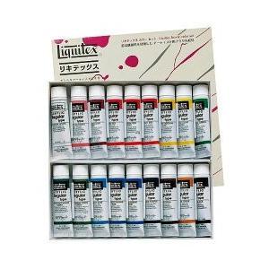 ポイント10倍 送料無料 リキテックス アクリル絵の具 リキテックスカラーセット レギュラータイプ 伝統色 18色 6号チューブ|enauc
