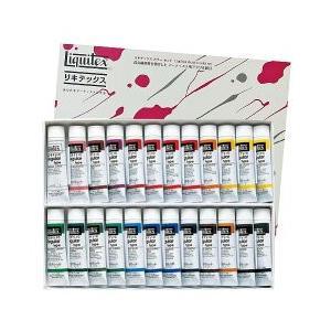 ポイント10倍 送料無料 リキテックス アクリル絵の具 リキテックスカラーセット レギュラータイプ 伝統色 24色 6号チューブ|enauc