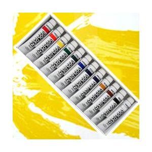 ポイント10倍 メール便可 ターナー アクリル絵の具 ゴールデンアクリリックス 12色セット 11ml チューブ入|enauc