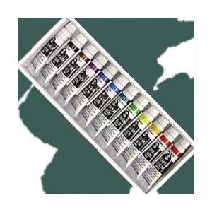 ポイント5倍 メール便可 ターナー アクリル絵の具 ターナーアクリルガッシュ 12色 スクールセット 11ml チューブ入|enauc