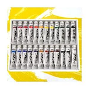 ポイント5倍 メール便可 ターナー アクリル絵の具 ゴールデンアクリリックス 24色セット 11ml チューブ入|enauc