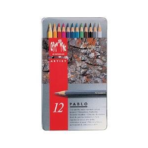 ポイント10倍 メール便可 カランダッシュ CARANd'ACHE 油性色鉛筆 パブロ色鉛筆 12色セット (缶入り)|enauc