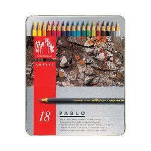 ポイント10倍 送料無料 カランダッシュ CARANd'ACHE 油性色鉛筆 パブロ色鉛筆18色セット (缶入り)|enauc