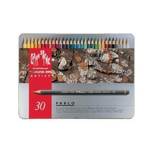 ポイント10倍 送料無料 カランダッシュ CARANd'ACHE 油性色鉛筆 パブロ色鉛筆30色セット (缶入り)|enauc