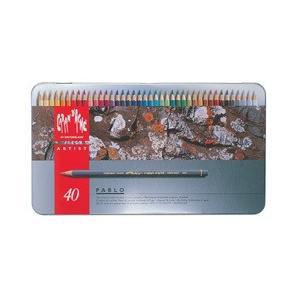 ポイント10倍 送料無料 カランダッシュ CARANd'ACHE 油性色鉛筆 パブロ色鉛筆 40色セット (缶入り)|enauc
