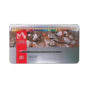 ポイント10倍 送料無料 カランダッシュ CARANd'ACHE 油性色鉛筆 パブロ色鉛筆 80色セット (缶入り)|enauc