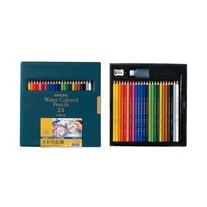 ポイント5倍 サクラクレパス 色鉛筆 水彩色鉛筆 24色|enauc