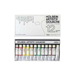 ポイント5倍 ホルベイン ガッシュ水彩絵具12色セット|enauc