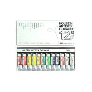 ポイント5倍 ホルベイン ガッシュ水彩絵具アーチスト12色セット|enauc