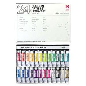 ポイント5倍 ホルベイン ガッシュ水彩絵具デザイナー24色セット|enauc