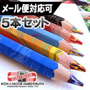 ポイント5倍 メール便可 コヒノール マジックペンシル ゴシックペン 太軸3色ペン 5本セット 5色セット|enauc