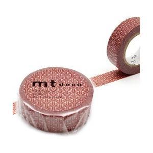 ポイント5倍 20個までメール便可 mt 組亀甲・弁柄(べんがら) 幅15mm×10m マスキングテープ 単品 組亀甲 和柄|enauc