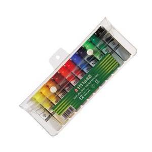 ポイント5倍 サクラクレパス水彩絵の具 マット水彩12色(12ml)ポリチューブ入り(シース入り)|enauc