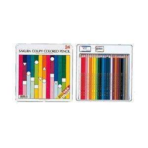 ポイント5倍 メール便可 サクラクレパス クーピー色鉛筆 24色 スタンダード|enauc