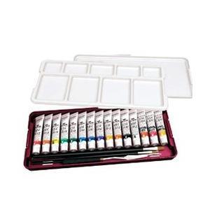 ポイント5倍 ターナーアーティストカラー ノーブルセット(N13A) パレット・20ml絵具13色(ホワイト2本)、ミニふきん|enauc