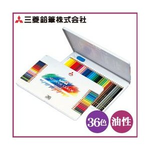 ポイント5倍 送料無料 三菱色鉛筆 ユニ・アーテレーズカラー 36色セット 消せる色鉛筆|enauc